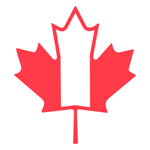 Maple leaf in canada colors flat Transparent PNG