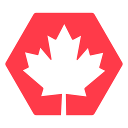 Maple leaf in hexagon flat