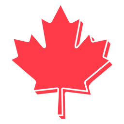 Maple leaf with edge flat