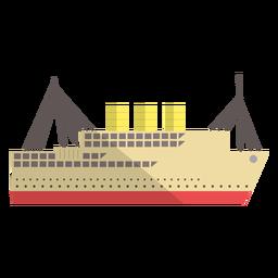 Ilustración de buque de transporte moderno
