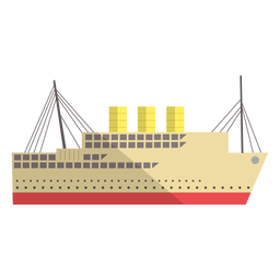 Modern transport vessel illustration