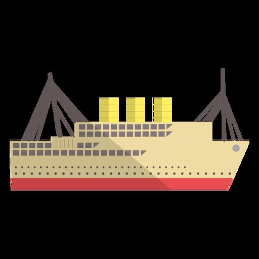 Ilustración de buque de transporte moderno Transparent PNG