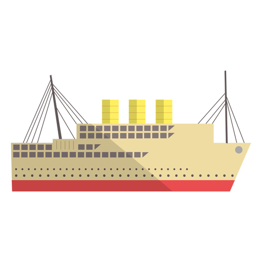 Modern transport vessel illustration