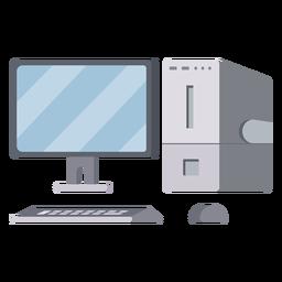 Ilustración moderna de la configuración de la computadora