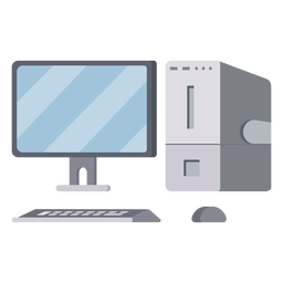 Modern computer setup illustration