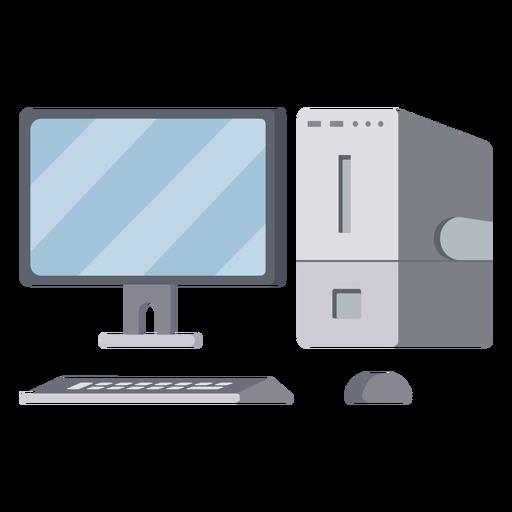 Modern computer setup illustration Transparent PNG