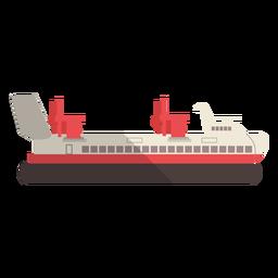 Ilustração de navio de transporte moderno