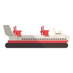 Modern transport ship illustration
