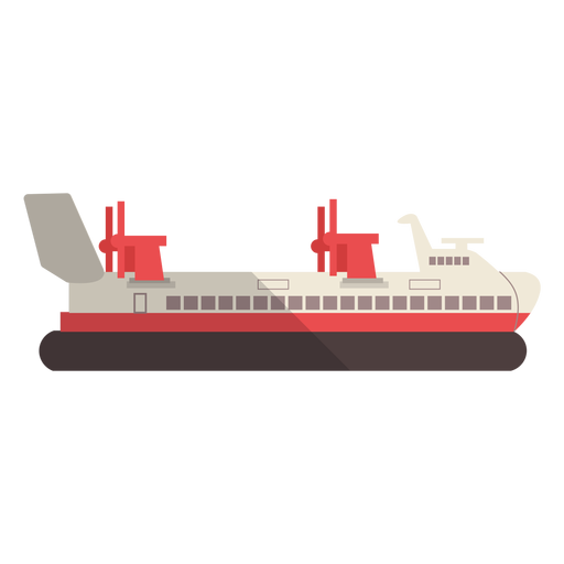 Ilustración de barco de transporte moderno