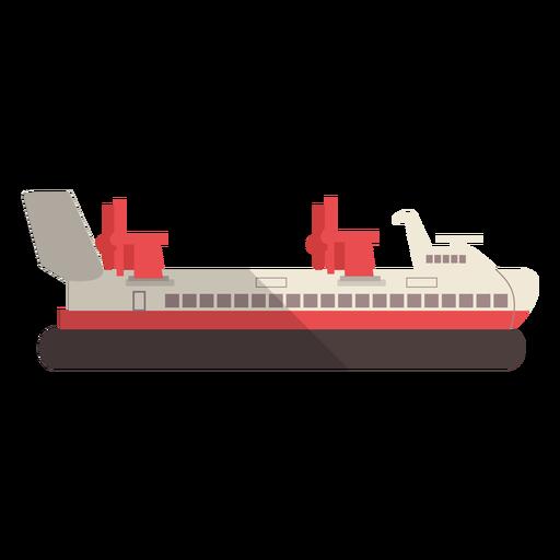 Modern transport ship illustration