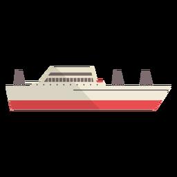 Modern yatch ship illustration