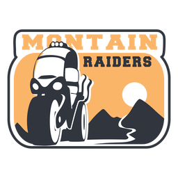 Mountain riders motorbike badge