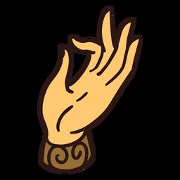 Ilustración de gesto de mano Mudra