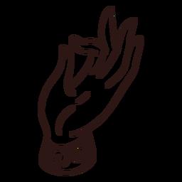Mudra hand gesture stroke