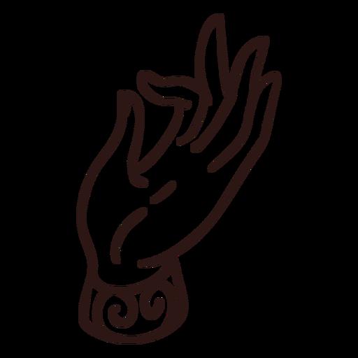 Trazo de gesto de mano de mudra