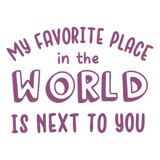Next to you love lettering Transparent PNG