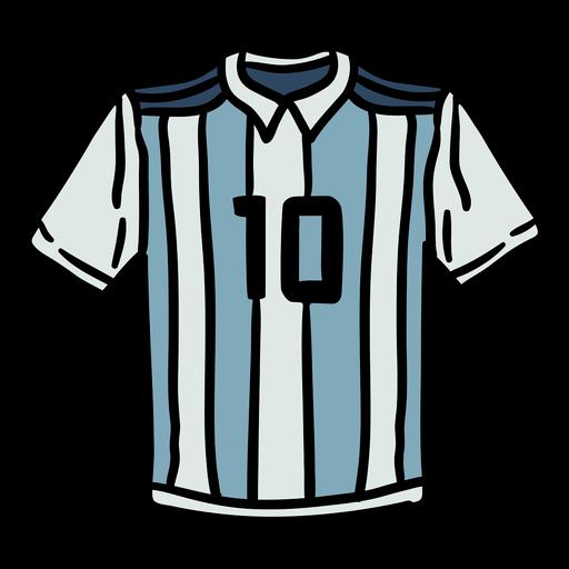 Number 10 argentina shirt hand drawn