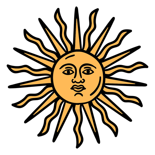 Official argentinian sun hand drawn