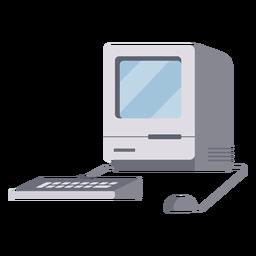 Antiga ilustração quadrada de computador