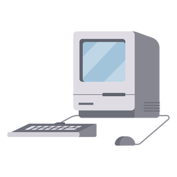 Antigua ilustración de computadora cuadrada