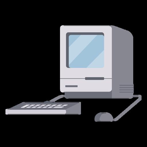 Old boxy computer illustration