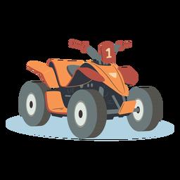 Ilustración de atv naranja