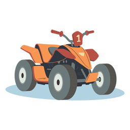 Orange atv illustration
