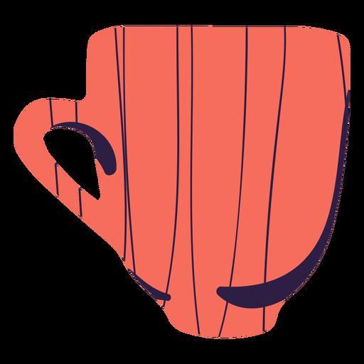 Orange coffee mug hand drawn