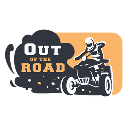 Out the road badge