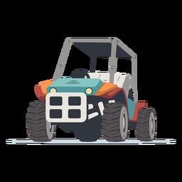 Ilustração de buggy ao ar livre