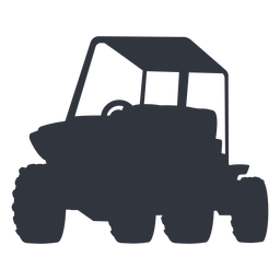 Outdoors buggy silhouette