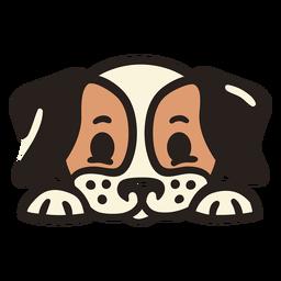 Peekaboo cachorro fofo plana