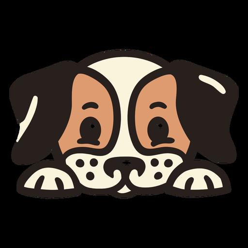 Peekaboo cute dog flat