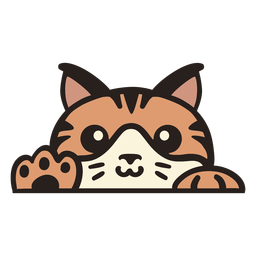 Peekaboo süße orange Katze flach