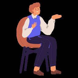 Personagem sentado pessoa