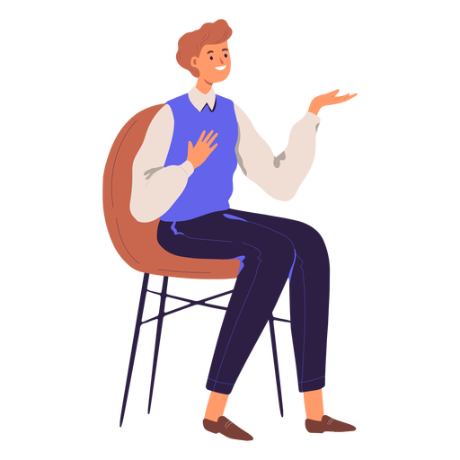 Person sitting character Transparent PNG