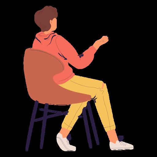 Persona sentada personaje desde atrás Transparent PNG