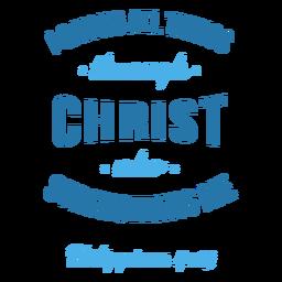 Filipenses Bíblia citação letras