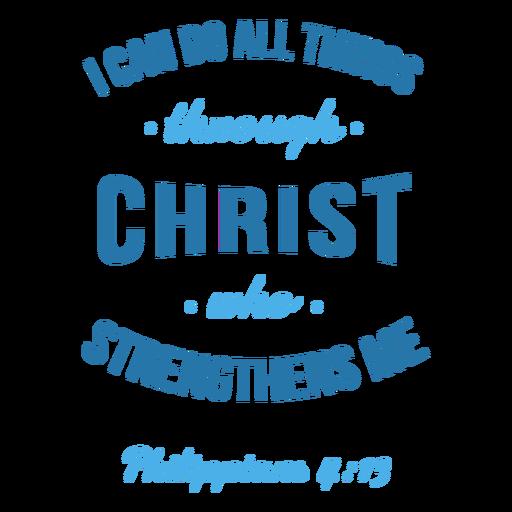 Letras de la cita de la biblia de filipenses Transparent PNG