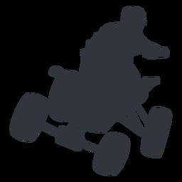 Piloto pulando na silhueta de moto-quatro