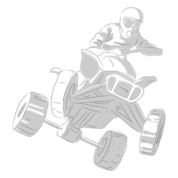 Pilot racing atv hand drawn