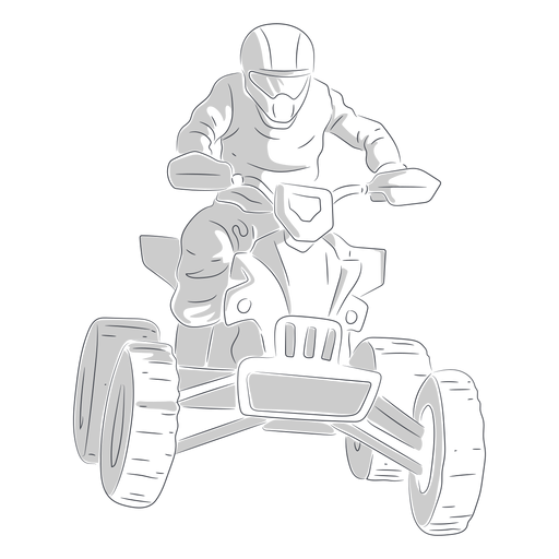 Pilot racing quad bike hand drawn Transparent PNG