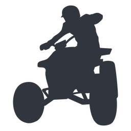 Pilot riding atv silhouette