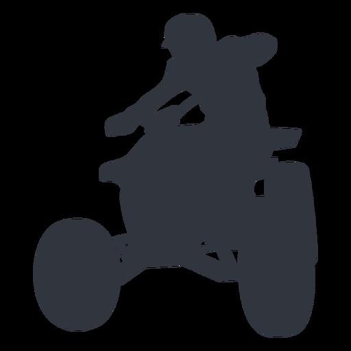 Pilot riding atv silhouette
