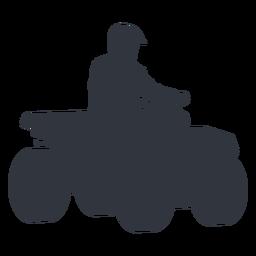 Piloto de moto-quatro silhueta