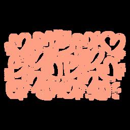 Padrão de corações rosa