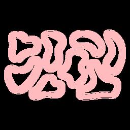 Pink spots pattern