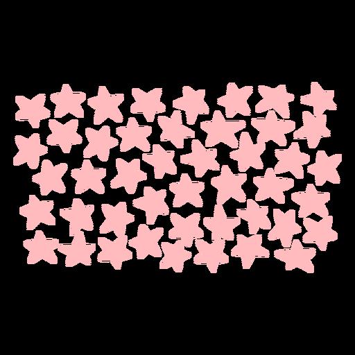 Patrón de estrellas rosa