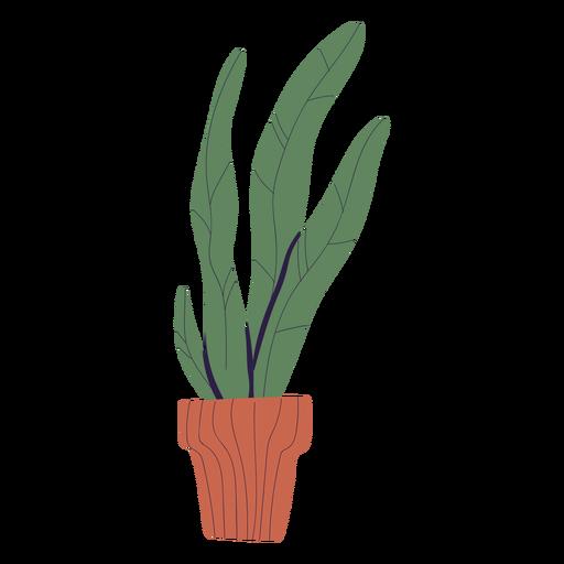Planta en maceta marrón ilustración