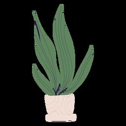 Pflanze in weißer Topfillustration